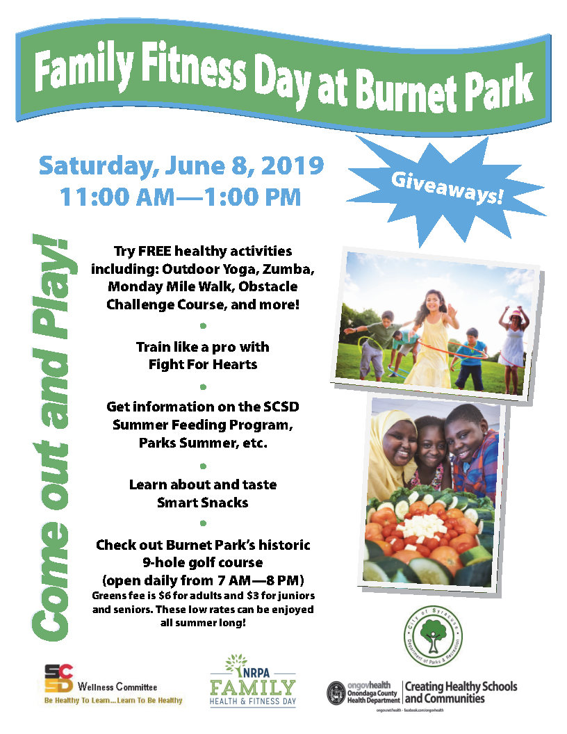 Family Fitness Day at Burnet Park