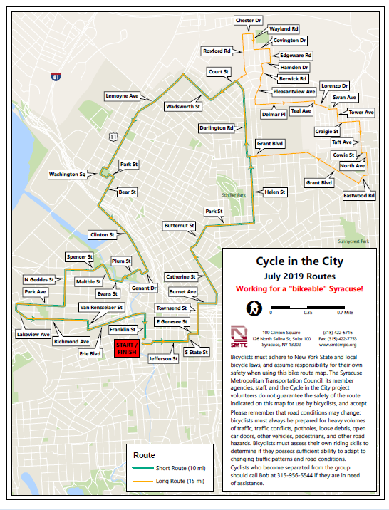 Cycle in the City Map